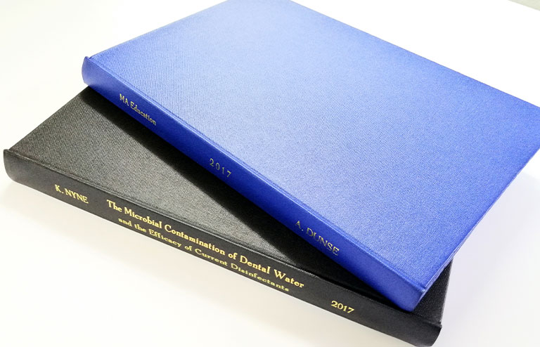 Collis Bird and Withey - Thesis Book Binding - London